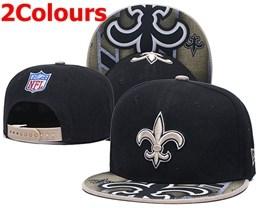 Mens Nfl New Orleans Saints Black&gold&white Snapback Hats 2 Colors