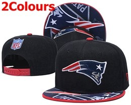 Mens Nfl New England Patriots Black&blue Snapback Adjustable Hats 2 Colors