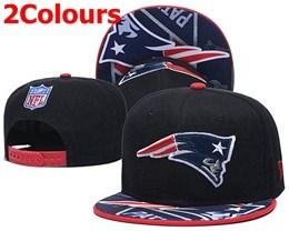 Mens Nfl New England Patriots Black&blue Snapback Adjustable Hats 2 Colors