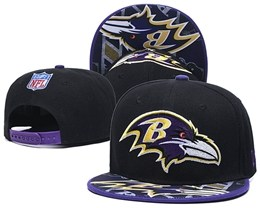 Mens Nfl Baltimore Ravens New Snapback Adjustable Hats One Color
