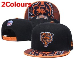 Mens Nfl Chicago Bears Black&orange New Snapback Adjustable Hats 2 Colors