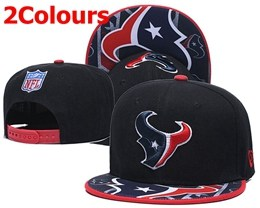Mens Nfl Houston Texans Black&blue New Snapback Adjustable Hats 2 Colors