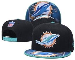 Mens Nfl Miami Dolphins Black&green New Snapback Adjustable Hats