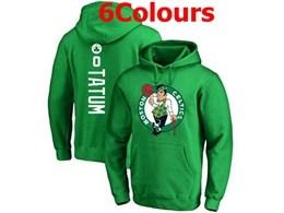 Mens Nba Boston Celtics #0 Jayson Tatum Hoodie Jersey With Pocket 6 Colors