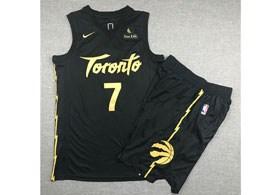 Mens 2019-20 Nba Toronto Raptors #7 Kyle Lowry Black Toronto City Edition Nike Swingman Suit Jersey