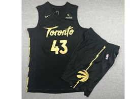 Mens 2019-20 Nba Toronto Raptors #43 Pascal Siakam Black Toronto City Edition Nike Swingman Suit Jersey