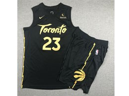 Mens 2019-20 Nba Toronto Raptors #23 Fred Vanvleet Black Toronto City Edition Nike Swingman Suit Jersey