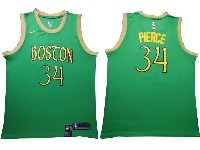 Mens 2019-20 Nba Boston Celtics #34 Paul Pierce Green City Edition Swingman Jersey