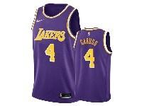 Mens 2019-20 Nba Los Angeles Lakers #4 Alex Caruso Purple Nike Swingman Jersey