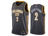 Mens 2019-20 Nba Oklahoma City Thunder #2 Shai Gilgeous-alexander Nike City Edition Swingman Jersey