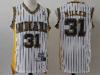 Mens Nba Indiana Pacers #31 Miller Hardwood Classics Swingman White Adidas Jersey