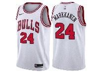 Mens 2018-19 Nba Chicago Bulls #24 Lauri Markkanen White Nike Swingman Jersey