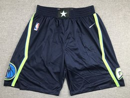 Mens 2019-20 Nba Dallas Mavericks Nike Dark Blue Nike City Edition Shorts