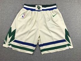 Mens 2019-20 Nba Milwaukee Bucks Cream City Edition Nike Shorts