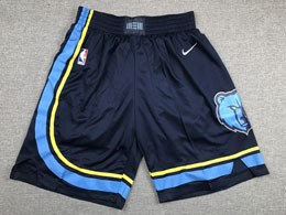 Mens 2019-20 Nba Memphis Grizzlies Dark Blue Nike Shorts