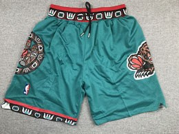 Mens 1995-96 Nba Memphis Grizzlies Green Nike Hardwood Classics Just Do Pocket Shorts