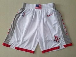 Mens Nba Houston Rockets 2019-2020 Nike White City Edition Nike Shorts
