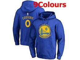 Mens Nba Golden State Warriors #0 Demarcus Cousins Hoodie Jersey With Pocket 9 Colors