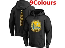 Mens Nba Golden State Warriors #9 Andre Iguodala Hoodie Jersey With Pocket 9 Colors