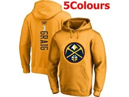 Mens Nba Denver Nuggets #3 Graig Hoodie Jersey With Pocket 5 Colors
