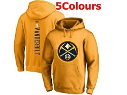 Mens Nba Denver Nuggets #8 Vanderbilt Hoodie Jersey With Pocket 5 Colors