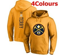 Mens Nba Denver Nuggets #22 Terry Hoodie Jersey With Pocket 4 Colors