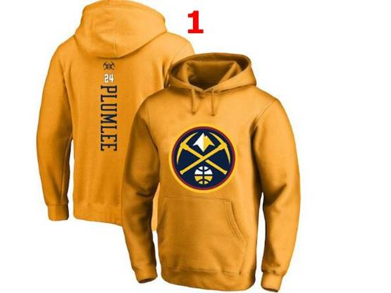 Mens Nba Denver Nuggets #24 Plumlee Hoodie Jersey With Pocket 4 Colors