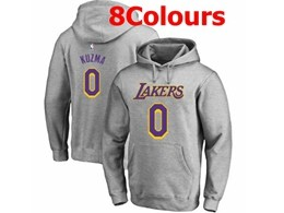 Mens Nba Los Angeles Lakers #0 Kyle Kuzma Hoodie Jersey With Pocket 8 Colors