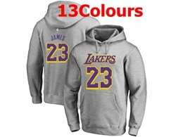 Mens Nba Los Angeles Lakers #23 Lebron James Hoodie Jersey With Pocket 13 Colors
