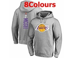 Mens Nba Los Angeles Lakers #7 Mcgee Hoodie Jersey With Pocket 8 Colors