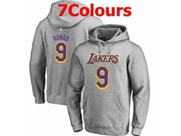 Mens Nba Los Angeles Lakers #9 Rajon Rondo Hoodie Jersey With Pocket 7 Colors