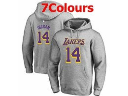 Mens Nba Los Angeles Lakers #14 Brandon Ingram Hoodie Jersey With Pocket 7 Colors
