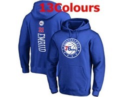 Mens Nba Philadelphia 76ers #21 Joel Embiid Hoodie Jersey With Pocket 13 Colors