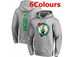 Mens Nba Boston Celtics #7 Jaylen Brown Hoodie Jersey With Pocket 6 Colors