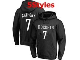Mens Nba Houston Rockets #7 Anthony Black Hoodie Jersey With Pocket 5 Styles
