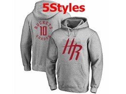 Mens Nba Houston Rockets #10 Gordon Gray Hoodie Jersey With Pocket 5 Styles