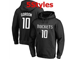 Mens Nba Houston Rockets #10 Gordon Black Hoodie Jersey With Pocket 5 Styles