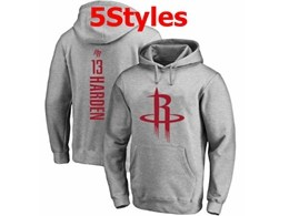 Mens Nba Houston Rockets #13 James Harden Gray Hoodie Jersey With Pocket 5 Styles