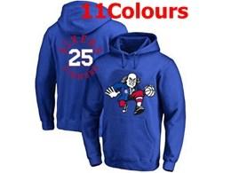 Mens Nba Philadelphia 76ers #25 Ben Simmons Hoodie Jersey With Pocket 11 Colors