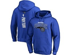 Mens Nba Orlando Magic #4 Payton Blue Hoodie Jersey With Pocket