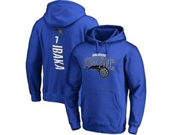 Mens Nba Orlando Magic #7 Ibaka Blue Hoodie Jersey With Pocket
