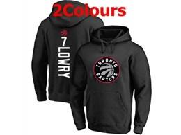 Mens Nba Toronto Raptors #7 Kyle Lowry Hoodie Jersey With Pocket 2 Colors