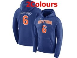 Mens Nba New York Knicks #6 Kristaps Porzingis Hoodie Jersey With Pocket 2 Colors