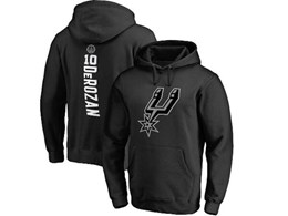 Mens Nba San Antonio Spurs #10 Demar Derozan Black Hoodie Jersey With Pocket