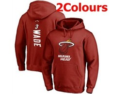 Mens Nba Miami Heat #3 Dwyane Wade Hoodie Jersey With Pocket 2 Colors