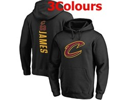 Mens Nba Cleveland Cavaliers #23 Lebron James Hoodie Jersey With Pocket 3 Colors
