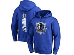 Mens Nba Dallas Mavericks #41 Dirk Nowitzki Blue Hoodie Jersey With Pocket