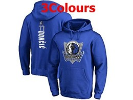Mens Nba Dallas Mavericks #77 Luka Doncic Hoodie Jersey With Pocket 3 Colors