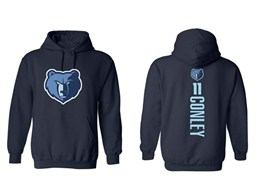 Mens Nba Memphis Grizzlies #11 Conley Blue Hoodie Jersey With Pocket