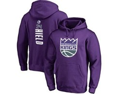 Mens Nba Sacramento Kings #24 Hield Purple Hoodie Jersey With Pocket